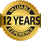 12 Years valuable experience